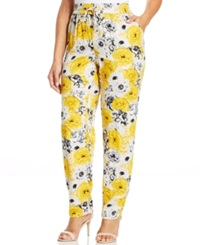 Style And Co. Plus Size Floral Print Soft Pants