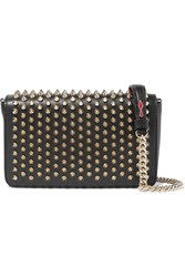 Christian Louboutin Zoompouch Studded Leather Shoulder Bag Black
