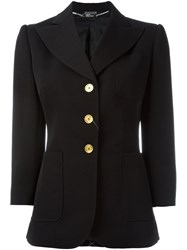 Alexander Mcqueen Three Button Blazer Black