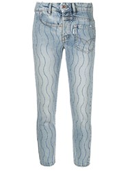 Filles A Papa Crystal Wave Skinny Jeans Blue