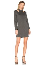Lanston Cutout Turtleneck Dress Green