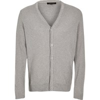 River Island Mens Grey Button Up Cardigan