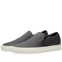 Common Projects Slip On Leather Perforated Black