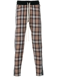 Represent Tartan Print Trousers Nude And Neutrals