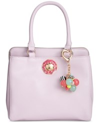 Betsey Johnson Triple Donut Satchel A Macy's Exclusive Style Lilac