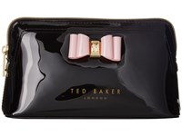 Ted Baker Bow Triangle Make Up Bag Black Handbags