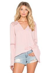 Band Of Gypsies Bell Sleeve Blouse Pink