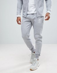 Gym King Skinny Joggers In Gray Marl Gray