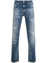 Department 5 Corkey Cropped Jeans Blue