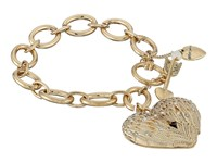 Betsey Johnson Heaven Sent Wing Heart Toggle Bracelet Crystal Bracelet Gray