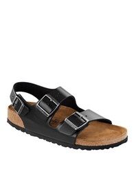 Birkenstock Milano Amalfi Leather Slingback Sandals Black
