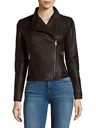 Marc New York Felix Leather Moto Jacket Whiskey