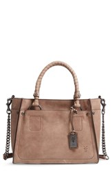 Frye Demi Leather Satchel Grey