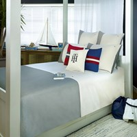 Tommy Hilfiger Grey Colour Block Duvet Cover Super King