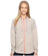 Columbia Lost Lager Hoodie Flint Grey Heather Lychee Women's Sweatshirt Gray