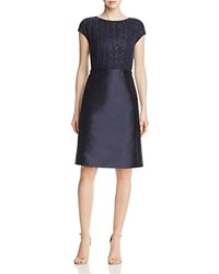 Lafayette 148 New York Hillany Woven Bodice Dress Ink