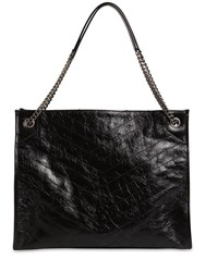 Saint Laurent Niki Lg Leather Shopping Bag Black