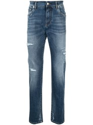 Dolce And Gabbana Slim Fit Stretch Jeans Blue