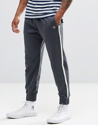 Abercrombie And Fitch Cuffed Joggers Retro Side Stripe Navy Navy Blue