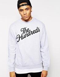 The Hundreds Sweatshirt With Forever Slant Logo Grey