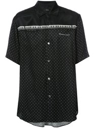 Undercover Polka Dot Print Shirt Men Cupro Tencel 4 Black