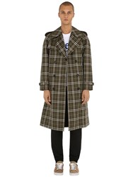 Burberry Reversible Pembridge Check Twill Coat Green