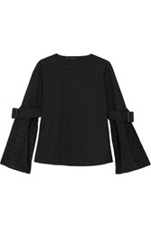 W118 By Walter Baker Kenneth Broderie Anglaise Cotton Top Black