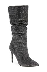 Jessica Simpson Layzer Embellished Slouch Boot Pewter Multi