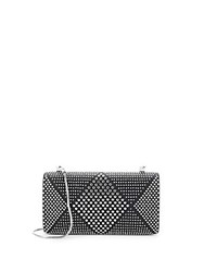 Vince Camuto Studded Leather Minaudiere Silver