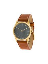 Uniform Wares C33 Two Hand Watch Brown