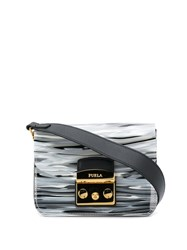 Furla Metropolis Satchel Bag Grey