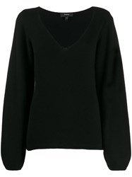 Theory V Neck Long Sleeve Knitted Top 60