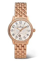 Jaeger Lecoultre Rendez Vous Night And Day 29Mm Small Rose Gold And Diamond Watch