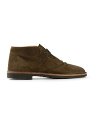 Golden Goose Deluxe Brand Distressed Desert Boots Green