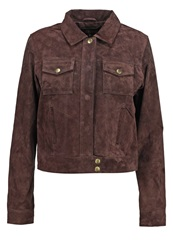 Dorothy Perkins Leather Jacket Brown