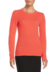 Lord And Taylor Crewneck Cashmere Sweater Spice