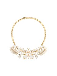 Ermanno Scervino Butterfly Stones Necklace Metallic