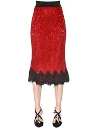 Dolce And Gabbana Cordonetto Lace Skirt With Macrame Trim