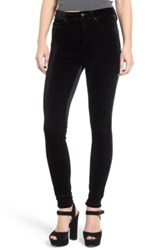 Blanknyc Denim Velvet High Rise Skinny Jeans Black