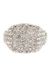 Ariella Collection Pave Pinky Ring Size 4