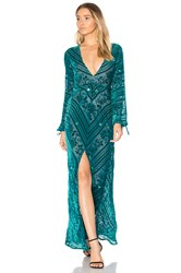 For Love And Lemons Jadore Dress Teal