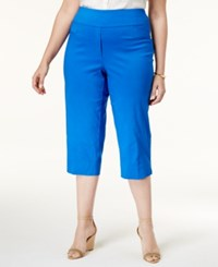 Alfred Dunner Plus Size Corsica Collection Pull On Capri Pants Cobalt
