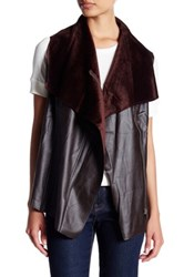 Hyfve Asymmetrical Zip Vest Brown
