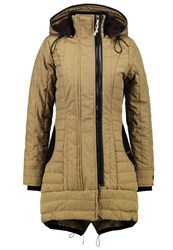 Khujo Cayus Winter Coat Lizzard Melange Oliv