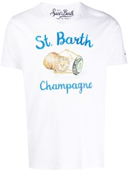 Mc2 Saint Barth Graphic Print T Shirt White