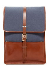 Miansai Leather Trim Harbour Ruck Sack Backpack Blue