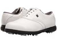 Footjoy Originals Cleated Plain Toe Twin Saddle White Golf Shoes