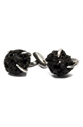 Title Of Work Volcanic Stones Cuff Links Black