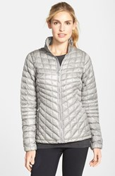 The North Face Women's 'Thermoball' Primaloft Front Zip Jacket Metallic Silver