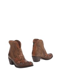 Elena Iachi Ankle Boots Brown